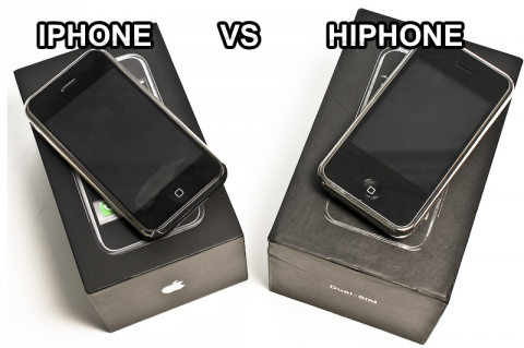 Comparando o iPhone com o clone Hiphone