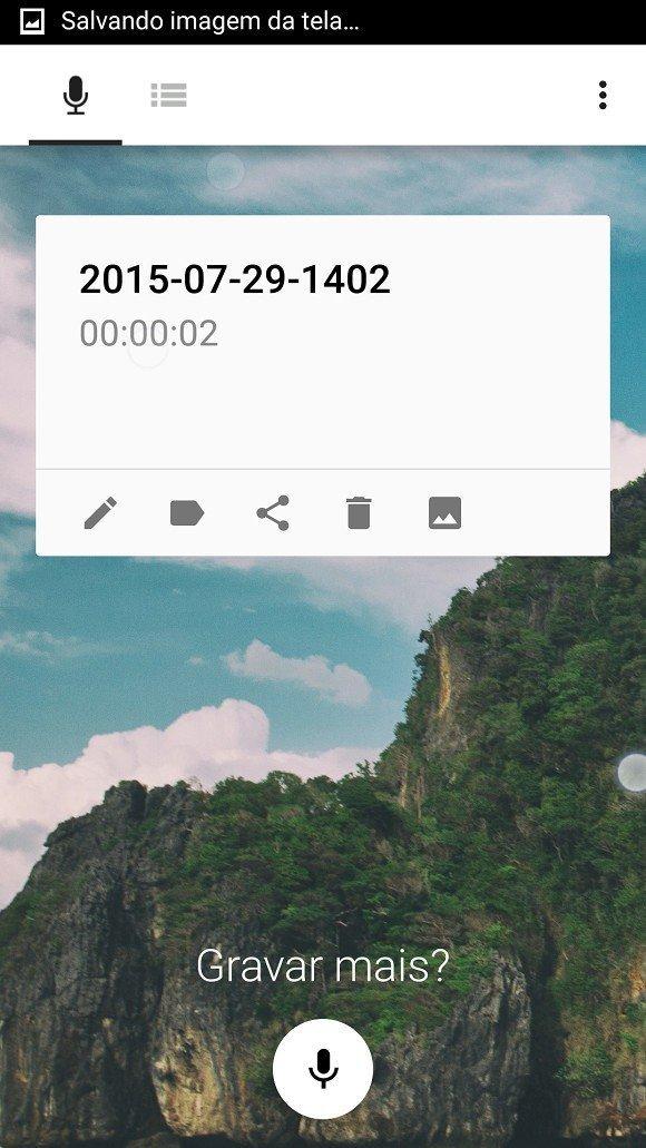 Gravador de chamadas para celular - tela para iniciar gravação
