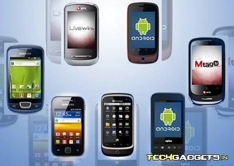 Exemplos de aparelhos com sistema operacional Android