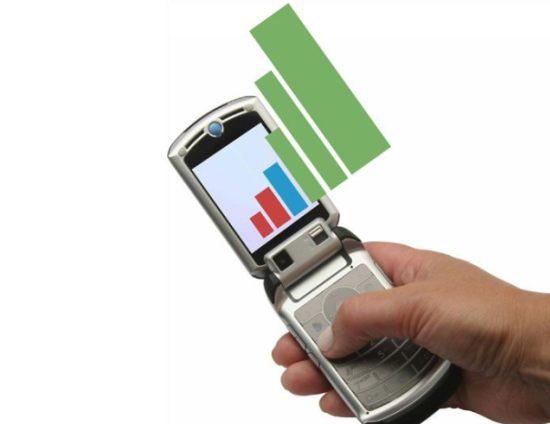 Recepção de sinal de celulares