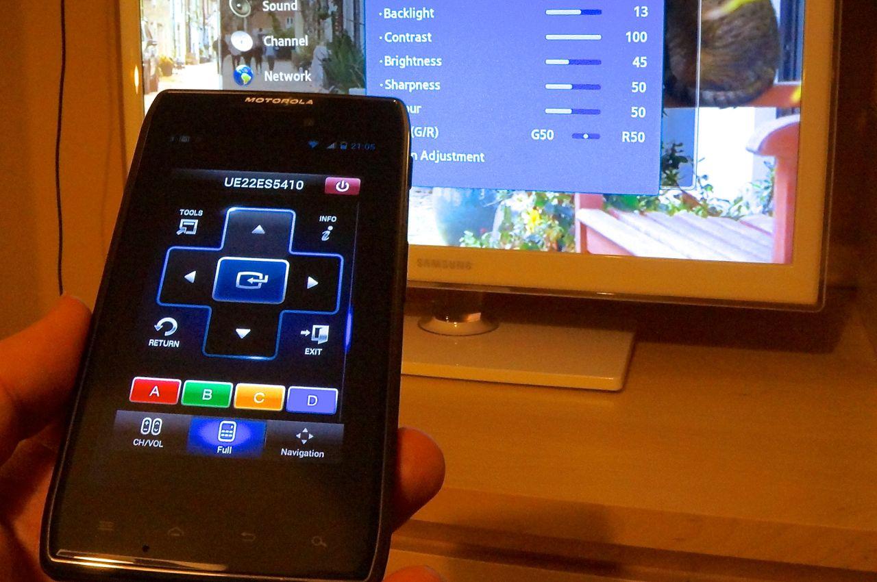 controle remoto no celular
